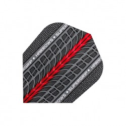 Plumas Harrows ANCHA Supergrip ROJA