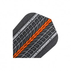 Plumas Harrows ANCHA Supergrip NARANJA